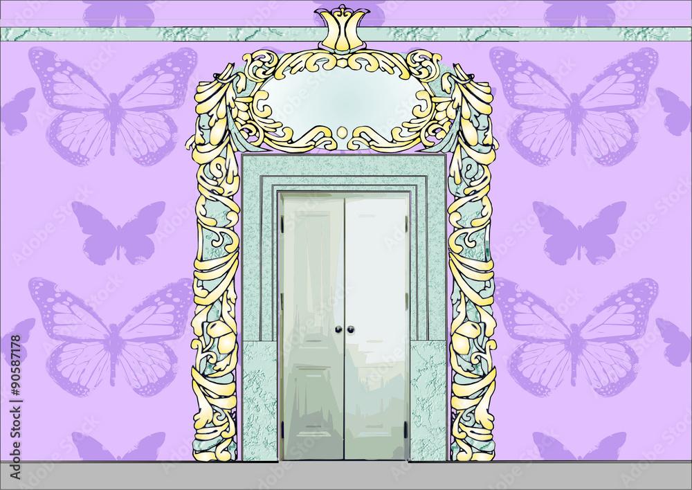 Fototapety, obrazy: Bajkowe drzwi pałacowe