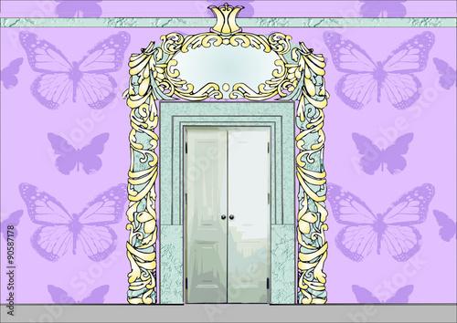 Fototapeta Bajkowe drzwi pałacowe obraz