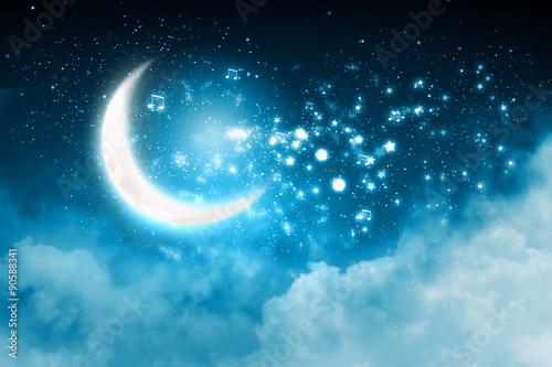 Garden Poster Heaven Moon background