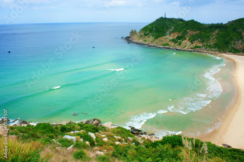 Vietnam landscape, beach, mountain, ecology, travel