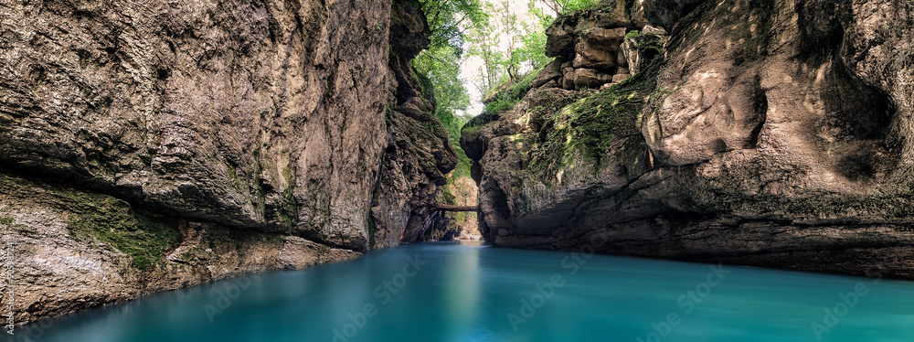 Fototapety, obrazy: Gorge of the mountain river