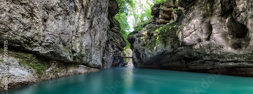 Printed kitchen splashbacks River Gorge of the mountain river