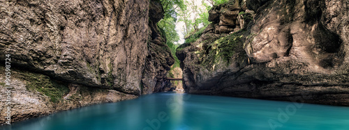 Foto op Canvas Rivier Gorge of the mountain river