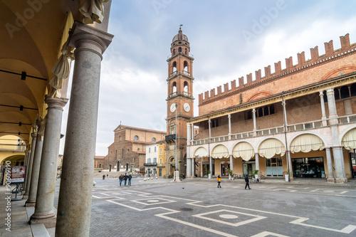 Fotografie, Obraz  Piazza del Popolo in Faenza, Italy