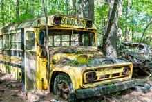 Yellow Chevrolet School Bus