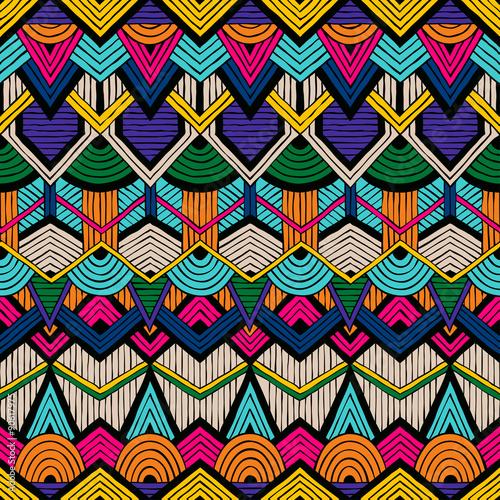 Tribal vector pattern Canvas Print