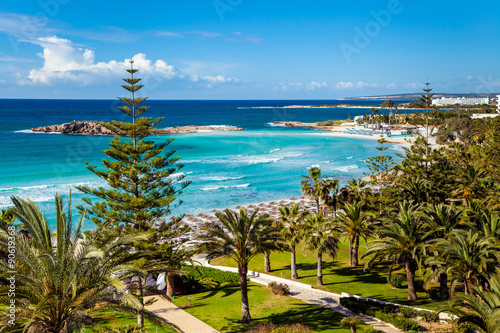 Photo sur Aluminium Chypre Sea view on Cyprus