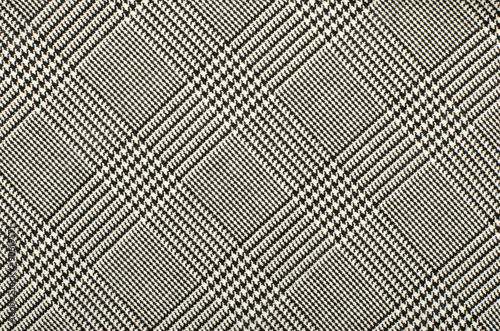 Photo Black and white houndstooth pattern in squares