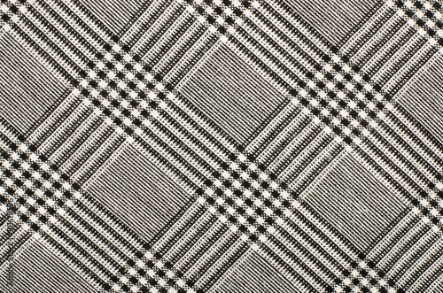 Black and white houndstooth pattern in squares Poster Mural XXL