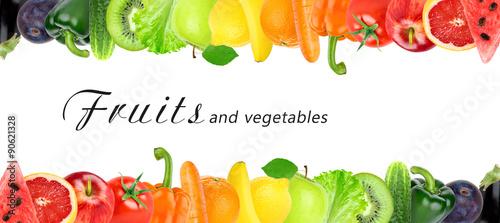 Poster Fruit Fresh color fruits and vegetables
