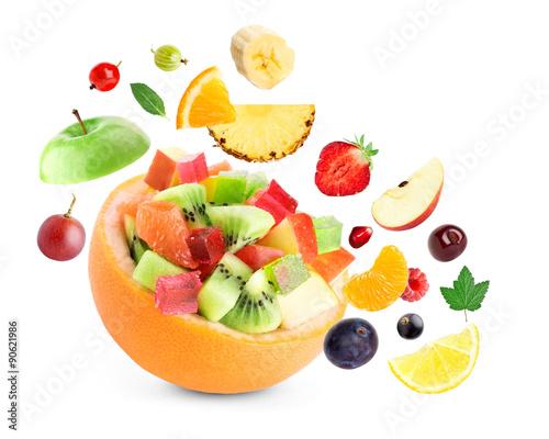 Poster Fruit Healthy fruit salad