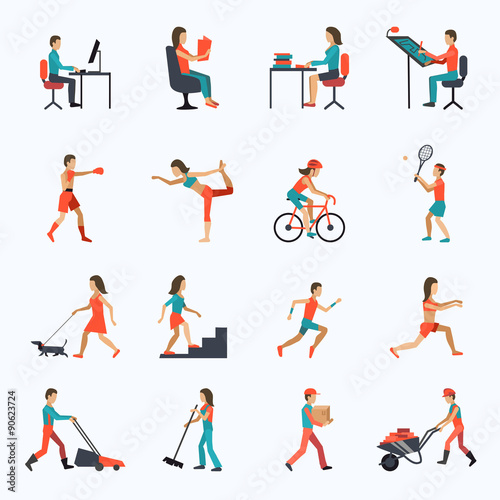 Physical Activity Icons Wall mural