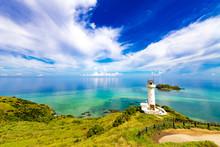 Sea, Lighthouse, Landscape. Okinawa, Japan, Asia.