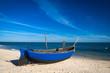 Fischerboote am Strand von Usedom an der Ostsee