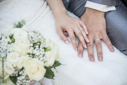 mani con fede nuziale Billede på lærred