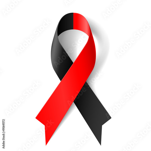 Red and black ribbon Canvas Print