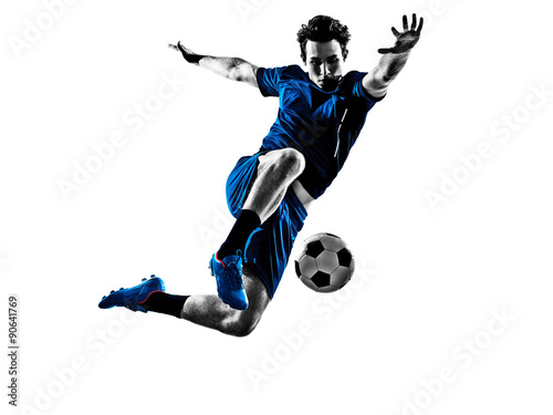 Photo italian soccer player man silhouette