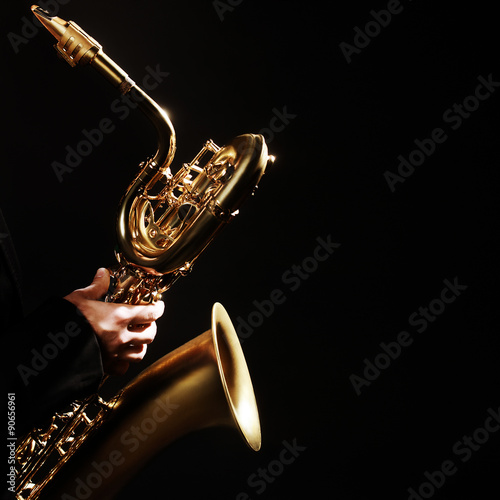 Saxophone Jazz Musical Instruments Poster