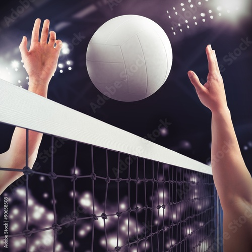 Volleyball match Canvas Print