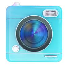 Camera Icon Blue