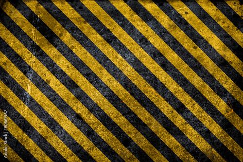 Fotografie, Obraz  grunge hazard background