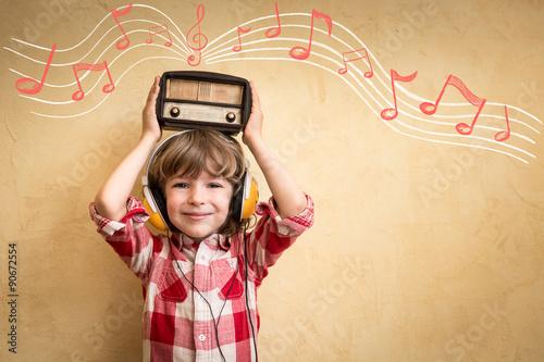 Retro music concept