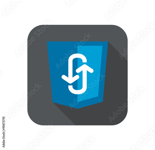 Photo  Illustration of blue shield with programming technology ajax