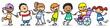 Kinder üben Integration und Inklusion