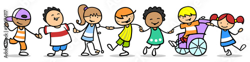 фотография  Kinder üben Integration und Inklusion