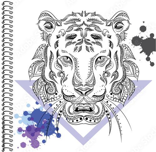 szkicowana-glowa-tygrysa