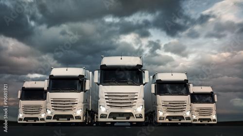 Truck Fleet Wallpaper Mural