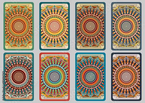 Set retro cards Canvas Print