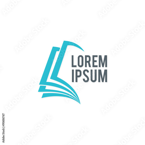 Book Cover Design Logo : Book education abstract vector logo buy this stock