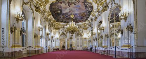 Fotografie, Obraz  Schloss Schönbrunn Wien Innen grosse Galerie