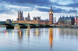 Fototapeta Londyn - London - Big ben and houses of parliament, UK