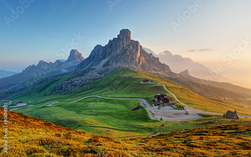 Printed kitchen splashbacks Mountains Dolomites landscape