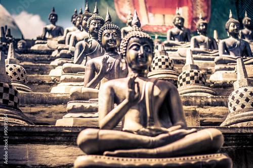 Garden Poster Temple Gangarama temple in Colombo, Sri Lanka