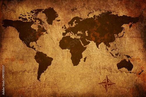 zuzyta-mapa-starego-swiata-grungy