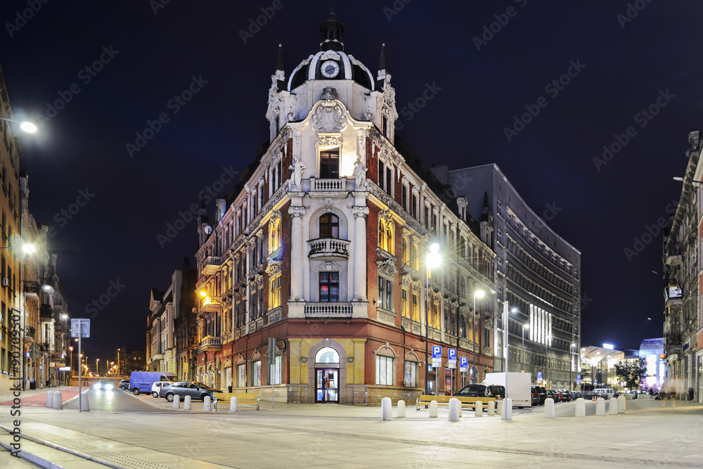 Fototapety, obrazy: The main square in the city center of Katowice