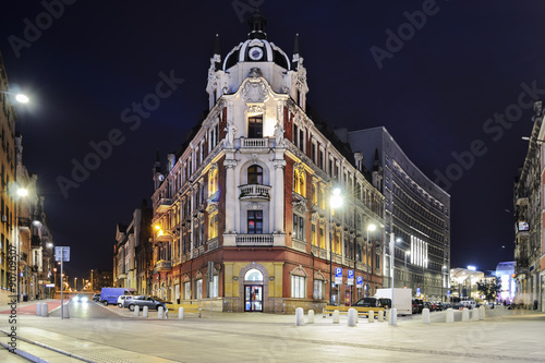 Obraz The main square in the city center of Katowice - fototapety do salonu