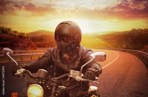 Motorcycle Rider Fototapet