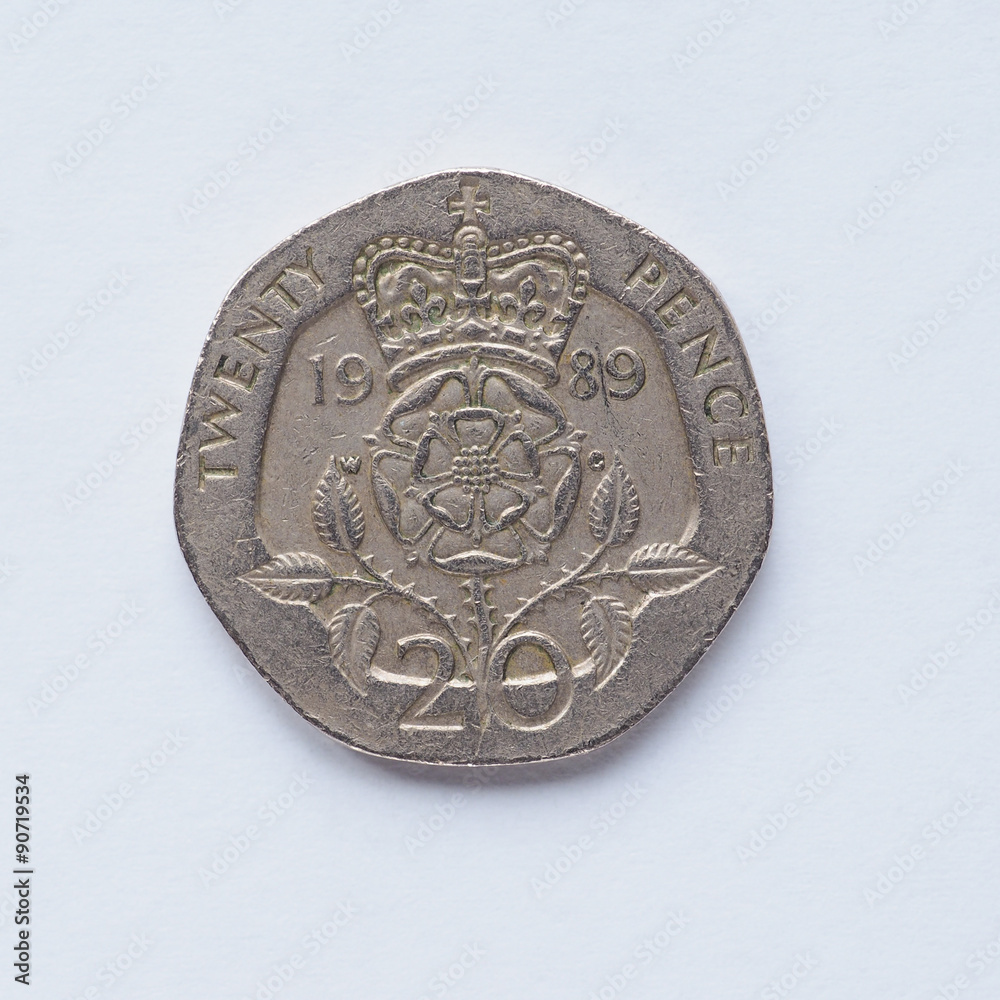 Photo & Art Print UK 20 pence coin | EuroPosters
