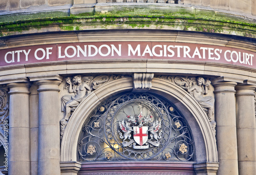 City of London Magistrates court Slika na platnu