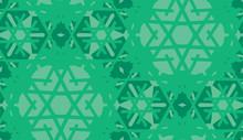 Green Kaleidoscope Background Pattern