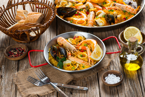 Fotografiet  Paella spanish food