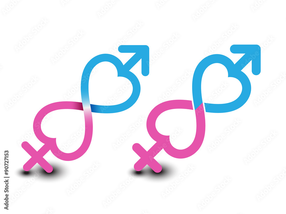 Photo Art Print Gender Symbol Male And Female Symbols