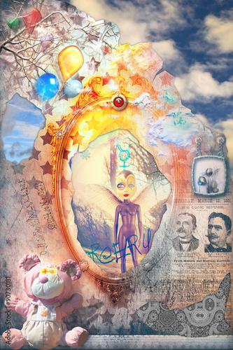 Papiers peints Imagination Through the Looking-Glass series