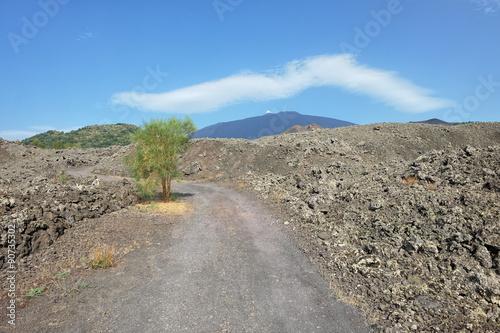 Fényképezés  Cloud On Etna Volcano, Sicily