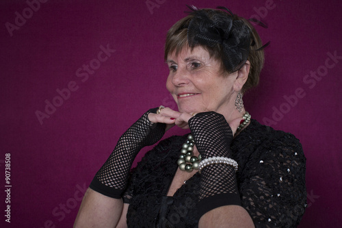 Fotografie, Obraz  Portrait einer weiblichen Seniorin