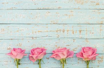 Rosen Rosa Blumen Gutschein Geschenk Karte